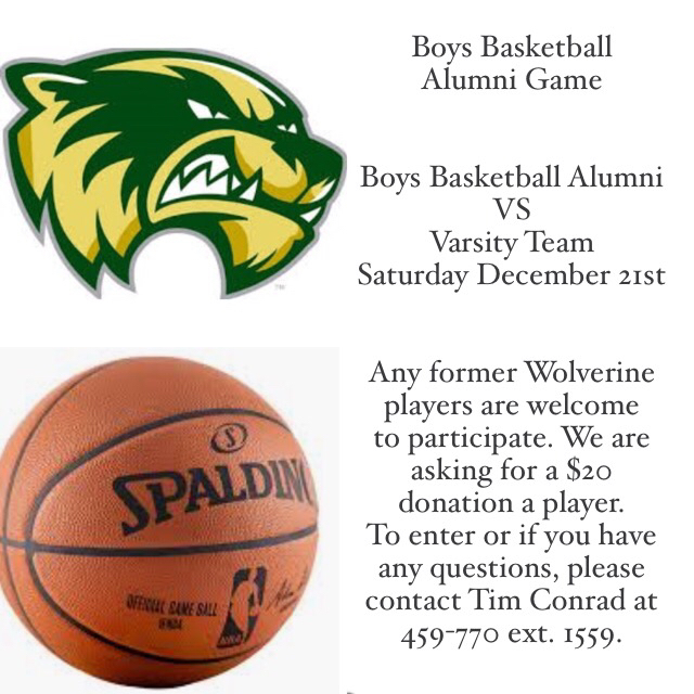 Boys Basketball Alumni Game
