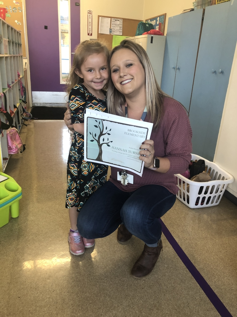 Miss Turner and a student from her kindergarten class!