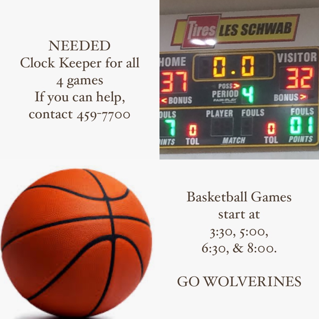 Basketball Clock Keeper Needed