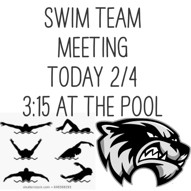 Swim Team Meeting